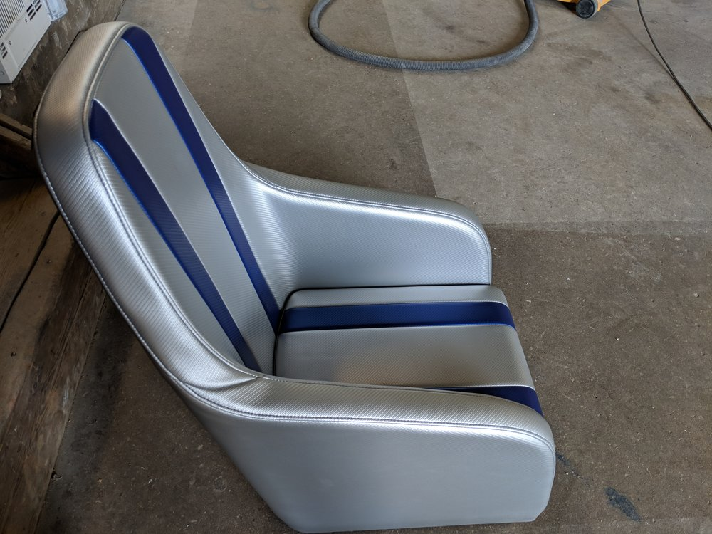 Not in this color, but our 22 Activator seats will look like this. Seat back will be a little lower.