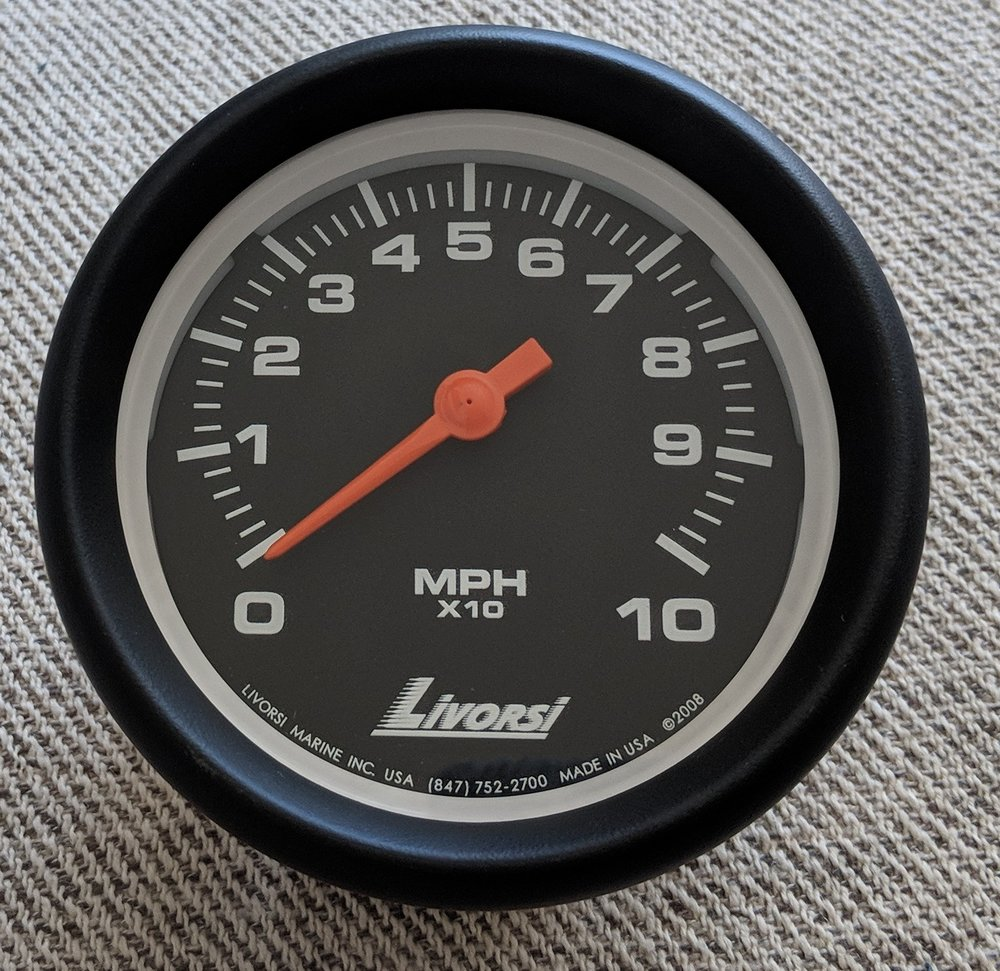 Vantage View - I really like these gauges, but notice the white rim around the dial. I felt it interfered with the look we were going for. This is a standard size, we opted for oversize on the new ones.