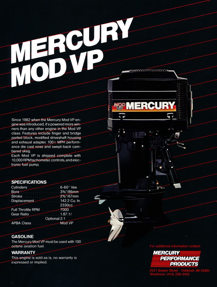 Mod VP - Mercury made a Mod VP model of their 2.4. This is the good old days. Just look at that piece of art.