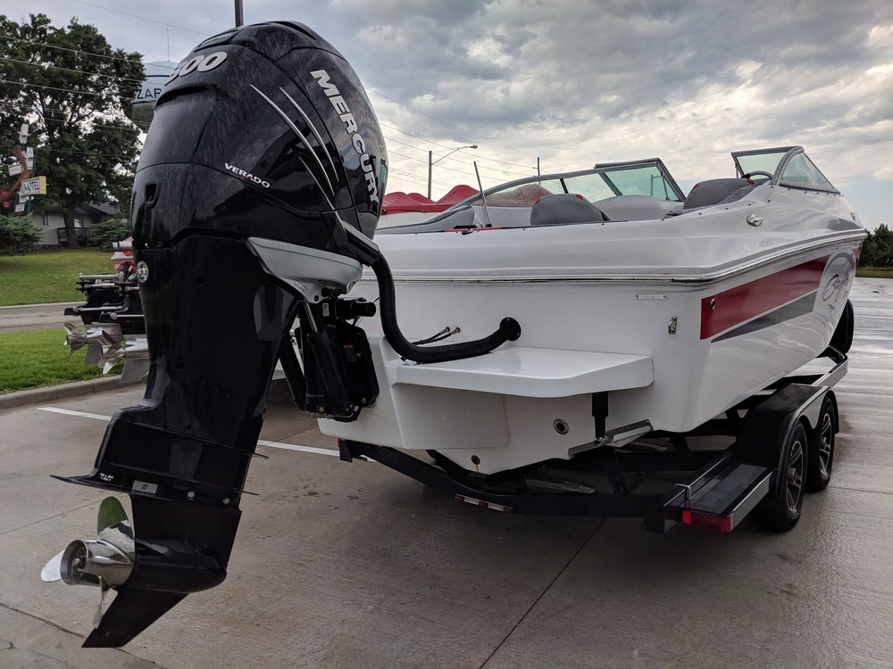 This was an OE conversion by Baja, taking their 247 Islander and making it a 23 outboard. Not the best execution, and not a great hull to begin with, but it's probably better overall than the sterndrive version.