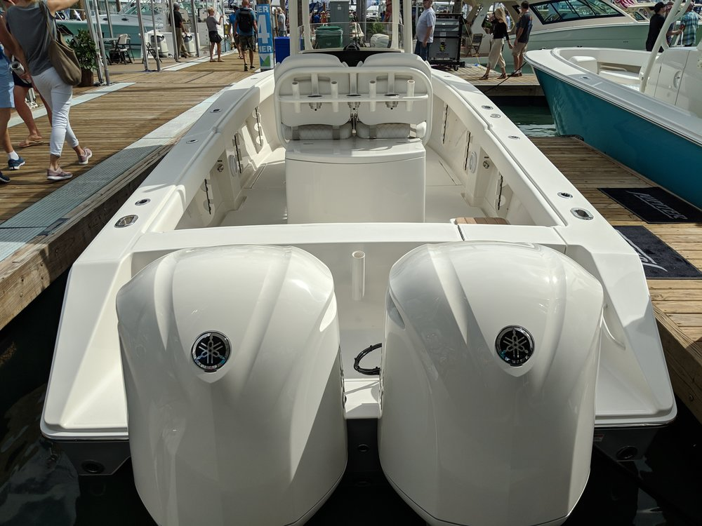 The 5.3 F350C Yamaha is a very popular engine. A powerful and well priced offering. A big displacement cruiser for heavy boats and large multiple engine center consoles.