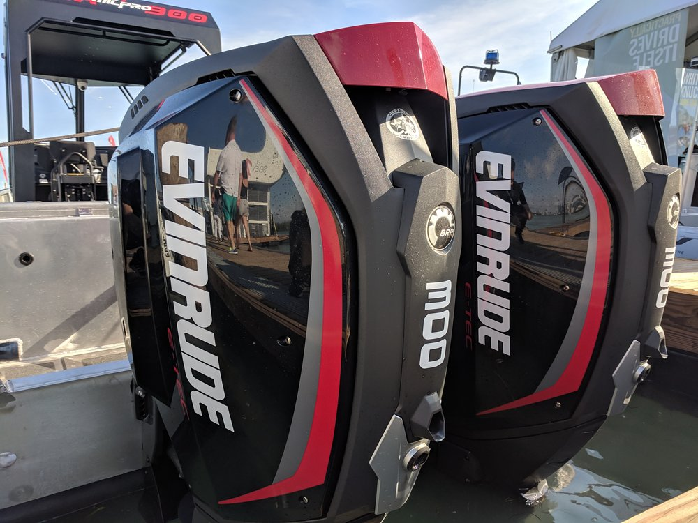 The 3.4 liter from Evinrude is the biggest they make, but in this category it leads in technology, and is only superseded by the 300R in performance. But with integrated steering, and great efficiency, you might opt for the big Evinrude in many cases. Plus, they are easy to customize. I love them. A bigger G2 might be coming.