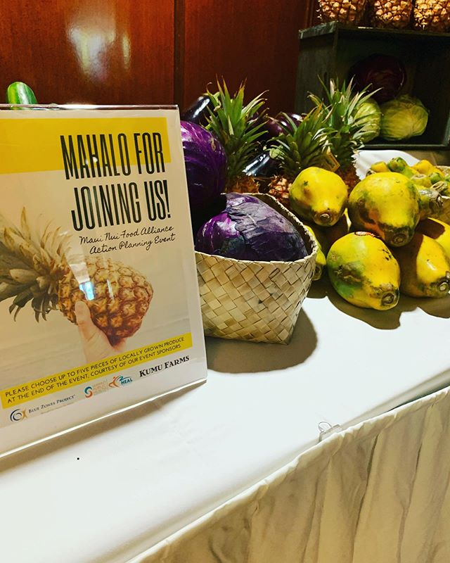 Thank you @kumufarms for getting to the Maui Nui Food Alliance today!  Such important work and talk around and about Maui's food future