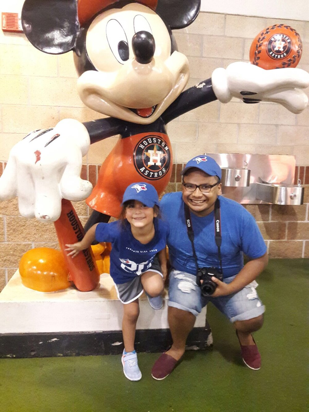 With my beautiful niece at the Houston Astrodome
