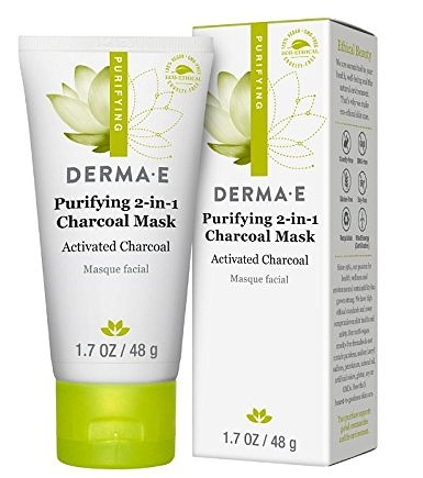 DERMA E CHARCOAL MASK - This is my new obsession lately. Not sure if you've picked up on it yet, but I LOVE DERMA E. I picked up a sample pack of this mask at my local Sprouts, tried it, and fell in love. It goes on so thick and cool to the touch, you leave it on for 5 minutes, it dries and looks like there's cement on your face, then you wash it off BUT! There's a twist! The 2-in-1 element is because it's also exfoliating. So, as you wash it off, it's also exfoliating the shit out of your face. I love this stuff, and it's already been added into my weekly routine. For an idea of how it'll look on you, see below.