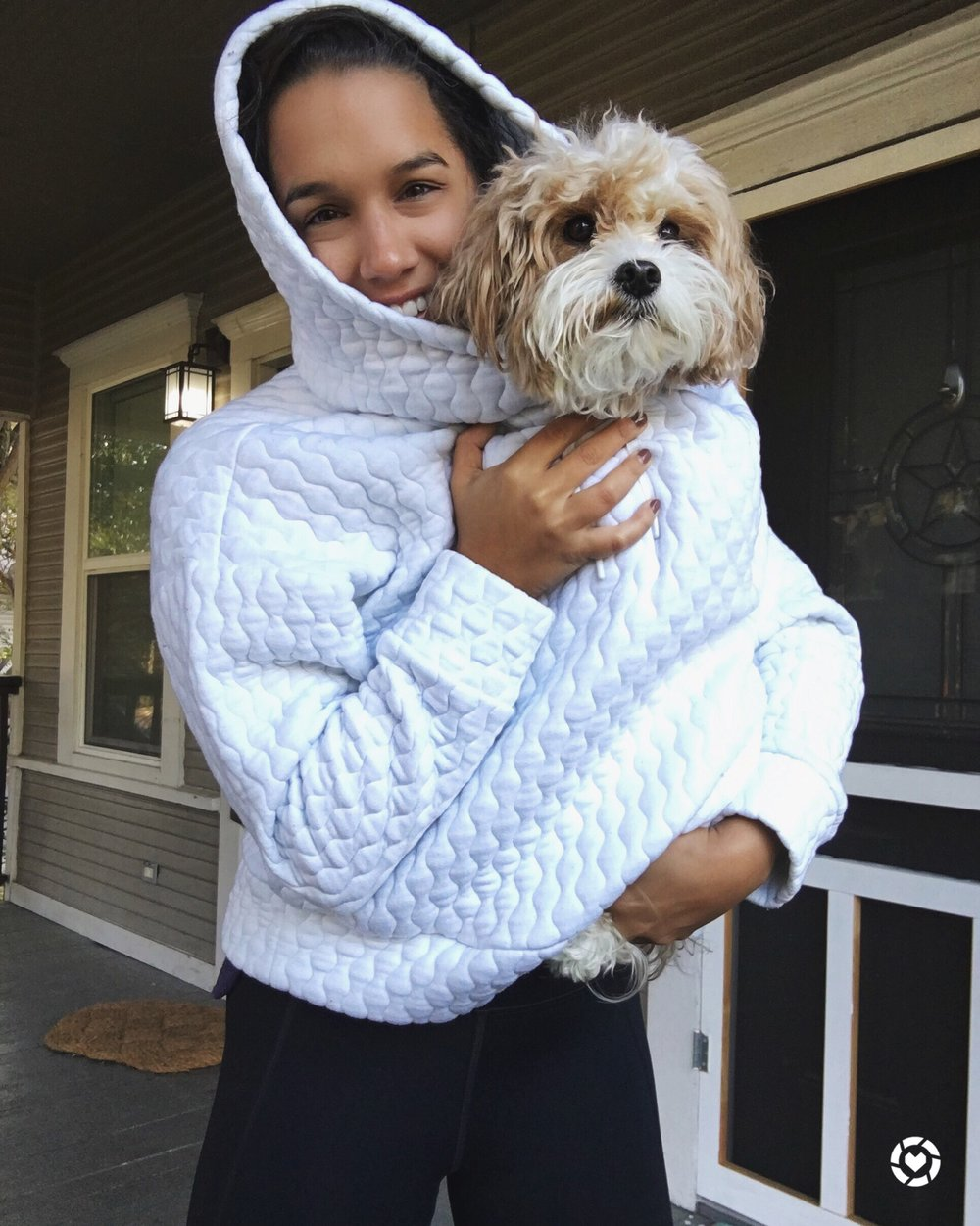 THE MARSHMALLOW HOODY - I'm not gonna go on about this hoody sweatshirt because I think I've done quite enough of that via my other social media feeds. HOWEVER, it's still amazing, can still fit your small dog underneath it, and it's still on sale (40% off with code FRIEND until Sunday!). Grab it while it's hot so you can wear it while it's cold (#copywriter).