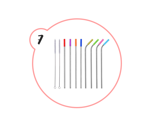 STAINLESS STEEL STRAWS - For the record, I was using stainless steel straws before the whole strawless movement was born. You can never have too many, and they're a great stocking stuffer. Help the world become a little less polluted this Christmas by gifting these.