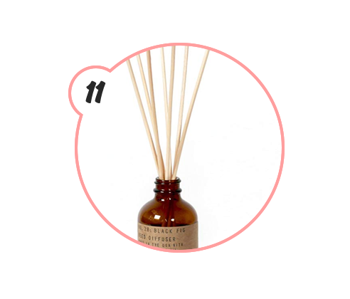 P.F. CANDLE CO. DIFFUSER - Usually I don't believe in reed diffusers. But, this one by P.F. is LEGIT. Perfect for a bathroom, bedroom, or even entryway table.