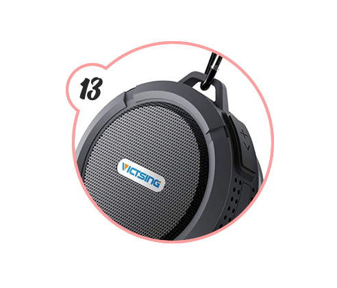 BLUETOOTH WATERPROOF SPEAKER - For those who put on concerts in the shower or can't stand to be in there without their favorite podcast playing, this little waterproof speaker is legit. Plus, they can take it to the pool with them come summertime so it's like a DOUBLE gift.
