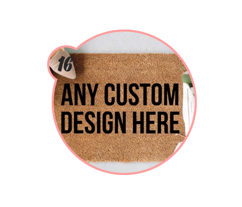 CUSTOM DOORMATS - Doormats are underrated. I mean, it's the first impression you make when someone comes over (besides, ya know, the entire rest of your house). Making a custom one for a friend or family member is a super creative, personal gift idea IMO.