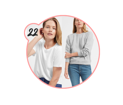EVERLANE BASICS - Everlane has plenty of amazing staples under $50 for both men and women. Check out their site to see if you can't find a little sumthin-sumthin in the way of clothing to gift someone this season (and browse for yourself while you're there, duh).