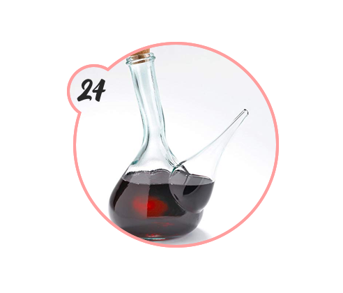 WINE PITCHER - Have a fancy friend or family member who loves wine? Consider gifting them this unique AF wine pitcher to shake things up a bit.