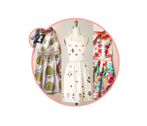 KITCHEN APRONS - Anthropologie has THE cutest kitchen stuff, and I won't hear any different. Their aprons are always to die for and are actually fun to wear while creating in the kitchen, so gift one to the best cook you know.