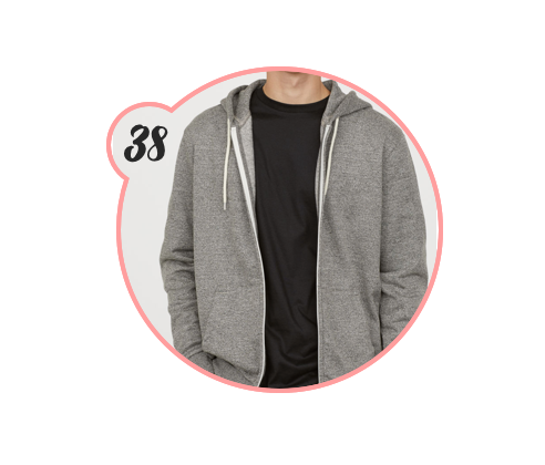 HOODED SWEATSHIRT - Can never, ever go wrong with a hooded sweatshirt. H&M is killing it in menswear this season, by the way.