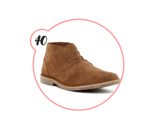 A CHUKKA BOOT - If any man in your life doesn't have a Chukka boot, you should be the one to do that for him. He will be forever grateful, on trend, and look cool as hell.
