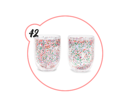 SPARKLE AND GLITTER COCKTAIL TUMBLERS - I will be purchasing these. No questions asked. Can you even? Because I can't. They're too fun.