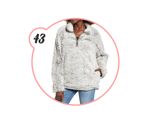 THE COZIEST FLEECE - This was a big seller during the Nordstrom sale and, although it's sold out now, it's less expensive sister is on Amazon and looks the exact same! Whoever you gift this to is one lucky lady.
