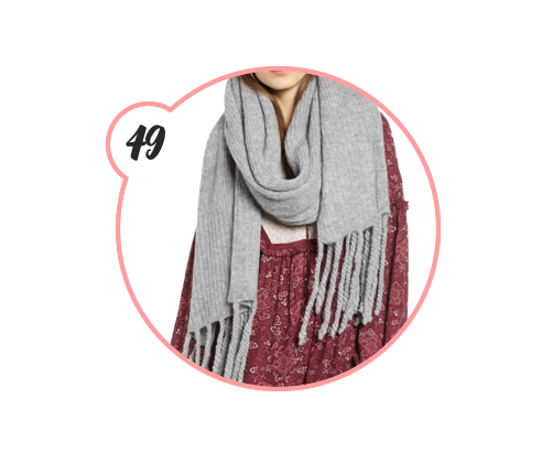 FREE PEOPLE BLANKET SCARF - Blanket. Scarf. Two words that were meant for each other, really. This one comes in a variety of colors and is cozy as all hell.