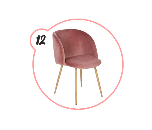 THE CHAIR - The infamous $100 mid-century modern velvet chair. I got it last year to start my blog's rebranding journey, and I sit in to this day. It also functions as a dining chair, which is a fun idea. Gift someone the gift of cuteness and comfort this holiday season.