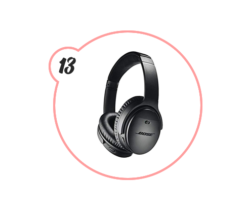 noise-cancelling headphones - Not earbuds. Headphones. Escape from the world around you (or directly next to you) with these amazing headphones from Bose. Also, maybe don't wear them at home if you're expecting company because you will NOT hear them knock or ring the doorbell.
