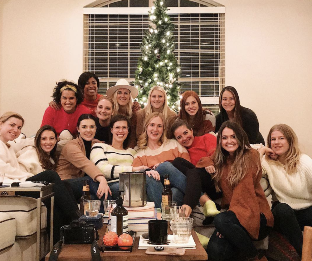 """- Next up was my first """"Thankful for Marketing"""" teamgiving with my stellar team at rewardStyle. I've never felt so lucky to be a part of a squad like this one. Each is more talented than the next, and we really do all have each other's backs. Even though I've only been here for about 4 months, we've done some big things already. In fact, the morning after this picture was taken we launched the product search feature in the LIKEtoKNOW.it app — something we'd been working on since my first day back in August. It was surreal to see it come to life and know my hands had been all over it, as well as so many others. I'm just so proud to be a part of it!"""