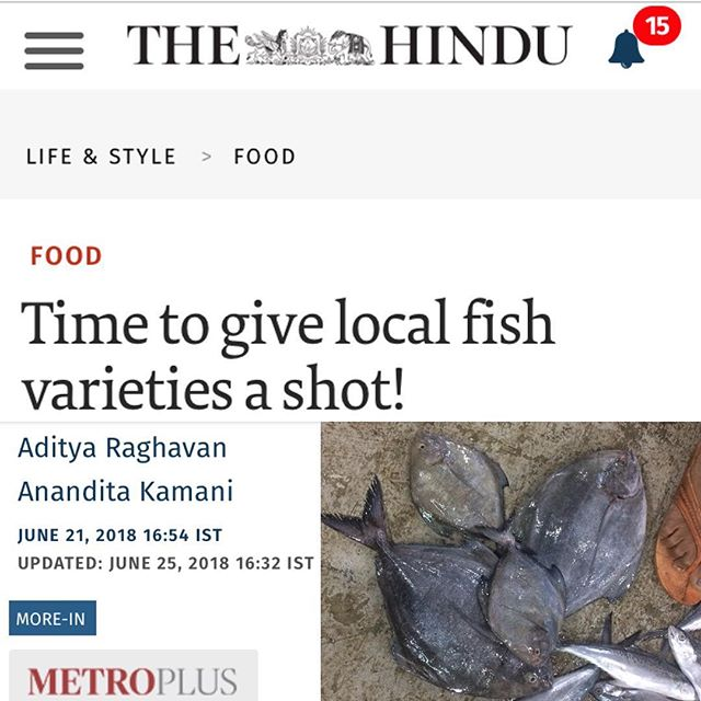 Time to give local fish varieties a shot! Link in Profile |  Piggybacking on our seasonal fish dinner a couple months back in collaboration with @inseasonfish, read @ananditakamani and @bigaddie's piece in @theHindu MetroPlus, on using interesting, seasonal fish in fun ways at your home. Thanks @inseasonfish for helping us learn about our local seafood options. Check them out, as well as @knowyourfish. Both these outfits provide interesting and accessible information on seasonality in Indian fisheries. In Mumbai, currently, we have a trawler ban till the end of July. We can't wait for the high season and head back to the jetties. #Seafood #Recipes #DandaFoodProject