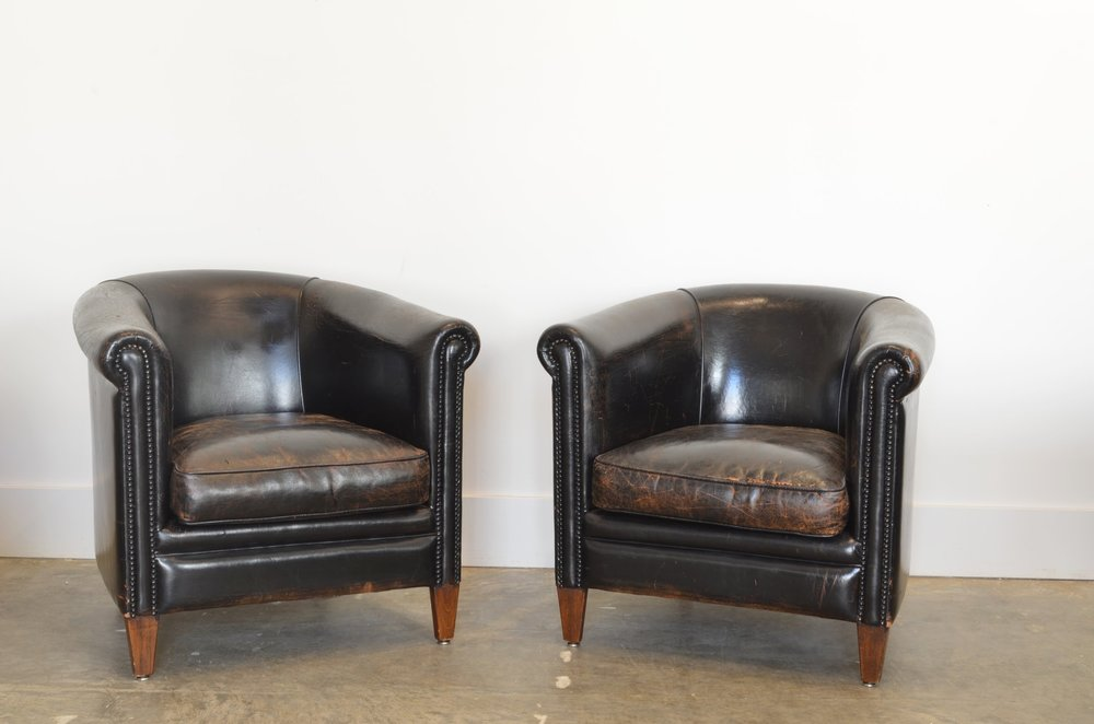 Vintage Art Deco Club Chairs, 1930u0027s