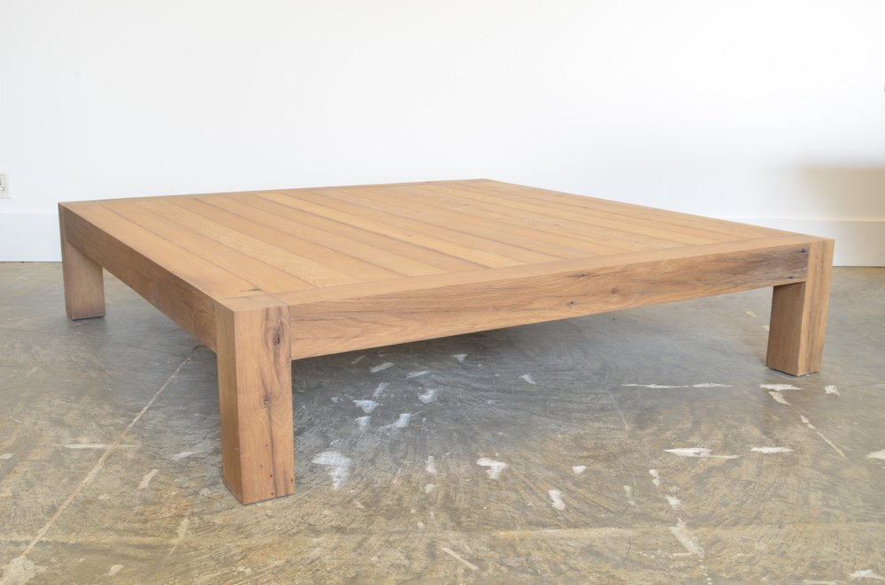 OZ|SHOP Antique Oak Parsonu0027s Coffee Table   Square