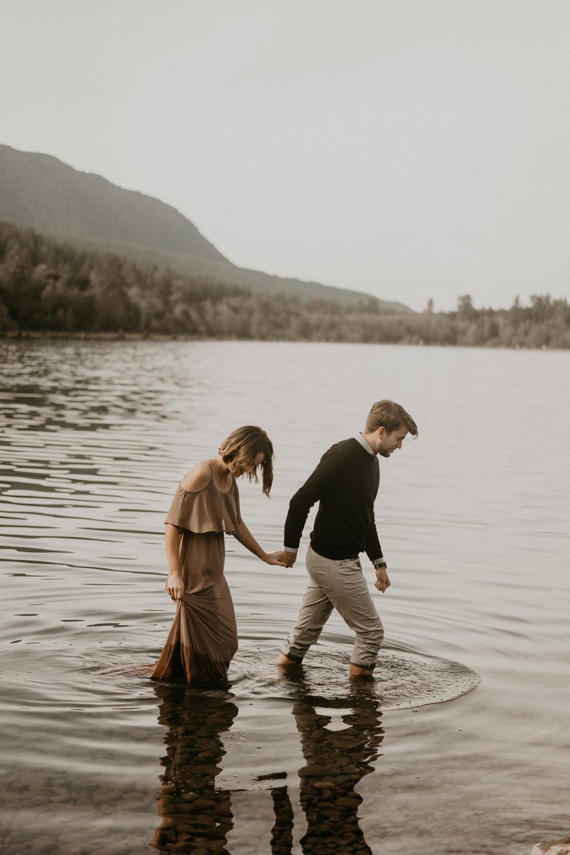 Anniversary photos by rattlesnake lake