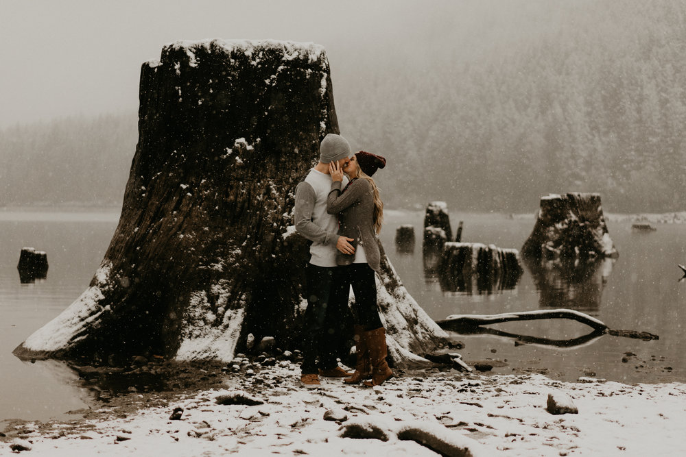 North Bend Washington Wedding Snow