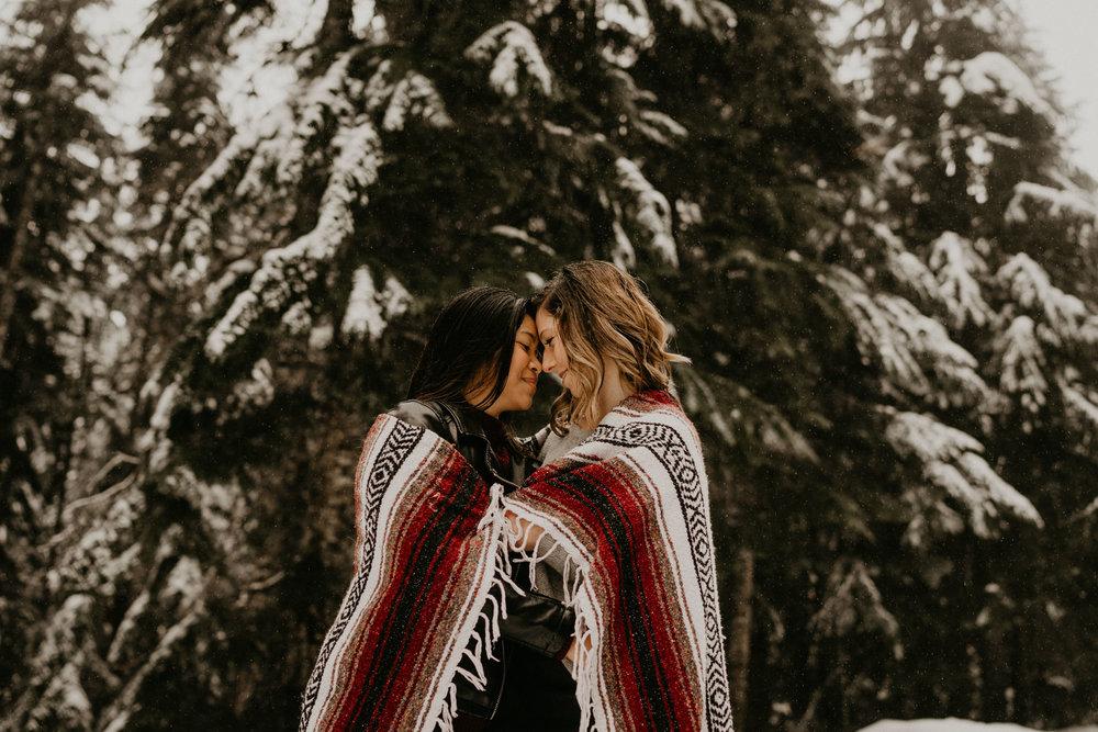Seattle Wedding Photographer Washing Gay Elopement Engagement