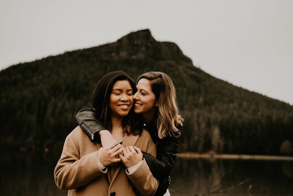 Snoqualmie Pass Seattle Tacoma Washington Portland Oregon Engagement Elopement Wedding Photographer Snow Gold Creek Pond Lake Rattlesnake Hiking Trail Ledge-11.jpg