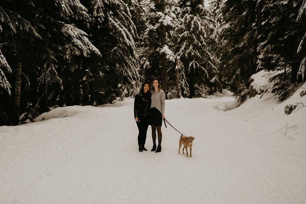 Seattle Tacoma Snoquamie Falls Pass Gold Creek Pond Lake LGBT Gay Lesbian Same Sex Wedding Elopement Engagement