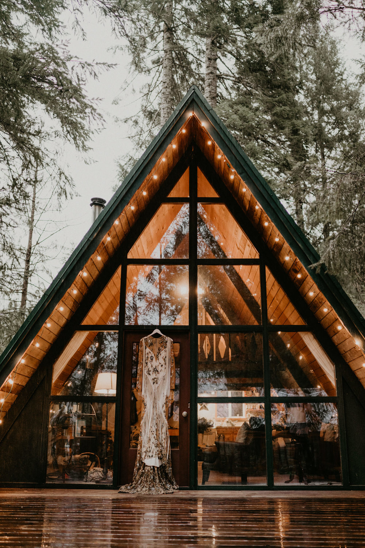 A-frame cabin near Packwood Washington Mount Rainier National Park