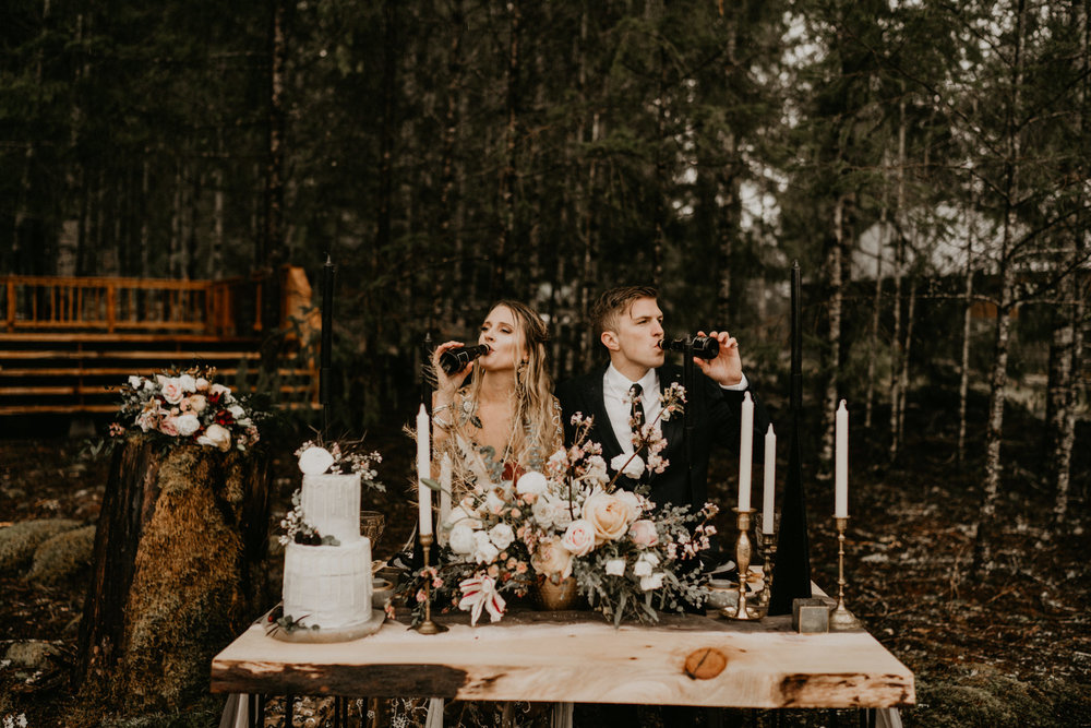Epic adventurous elopement in the Pacific Northwest near Mount rainier national park