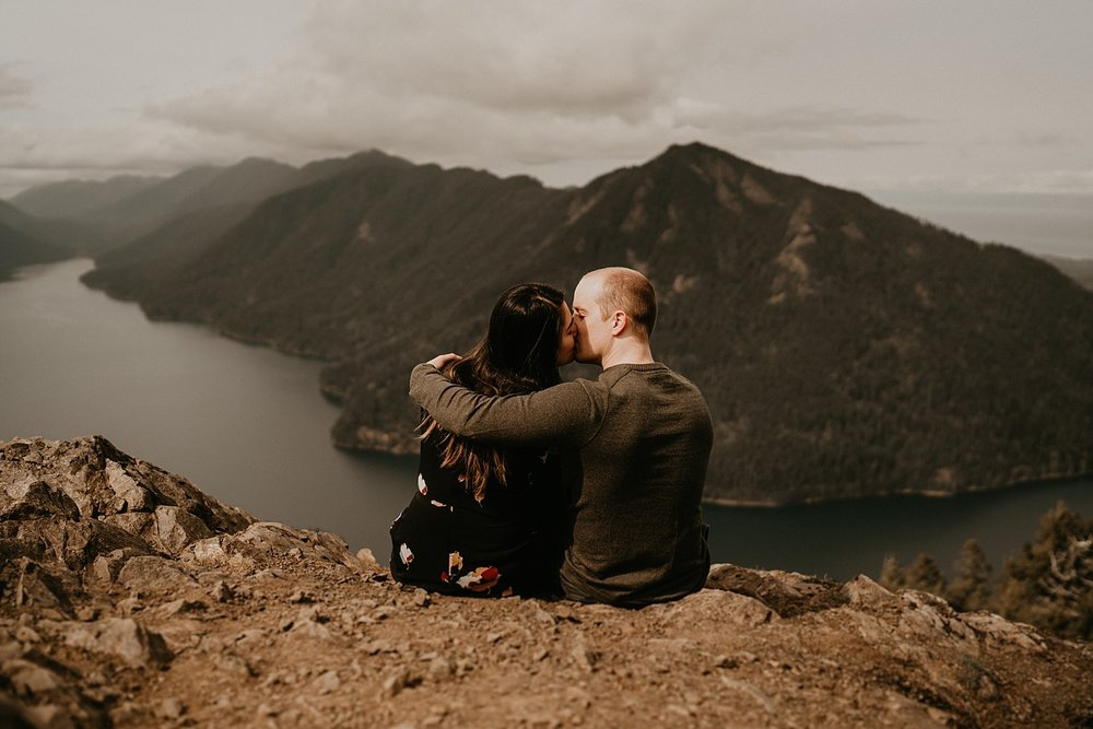 Lake Crescent Wedding - Storm King Ranger Station Engagement