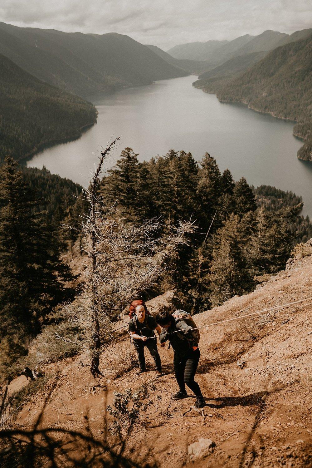 Lake-Crescent-Mount-Storm-King-Hiking-Adventure-Engagement-Seattle-Wedding-Photographer_0027.jpg