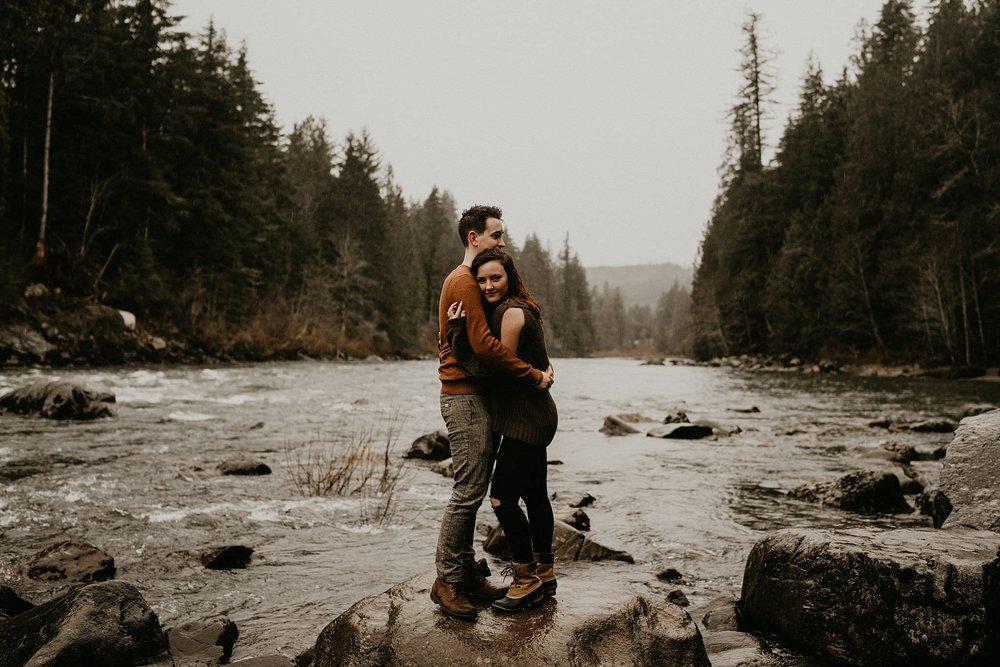 North Bend river engagement session