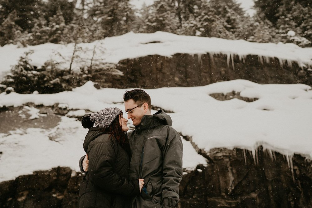 Alpental ski engagement photo