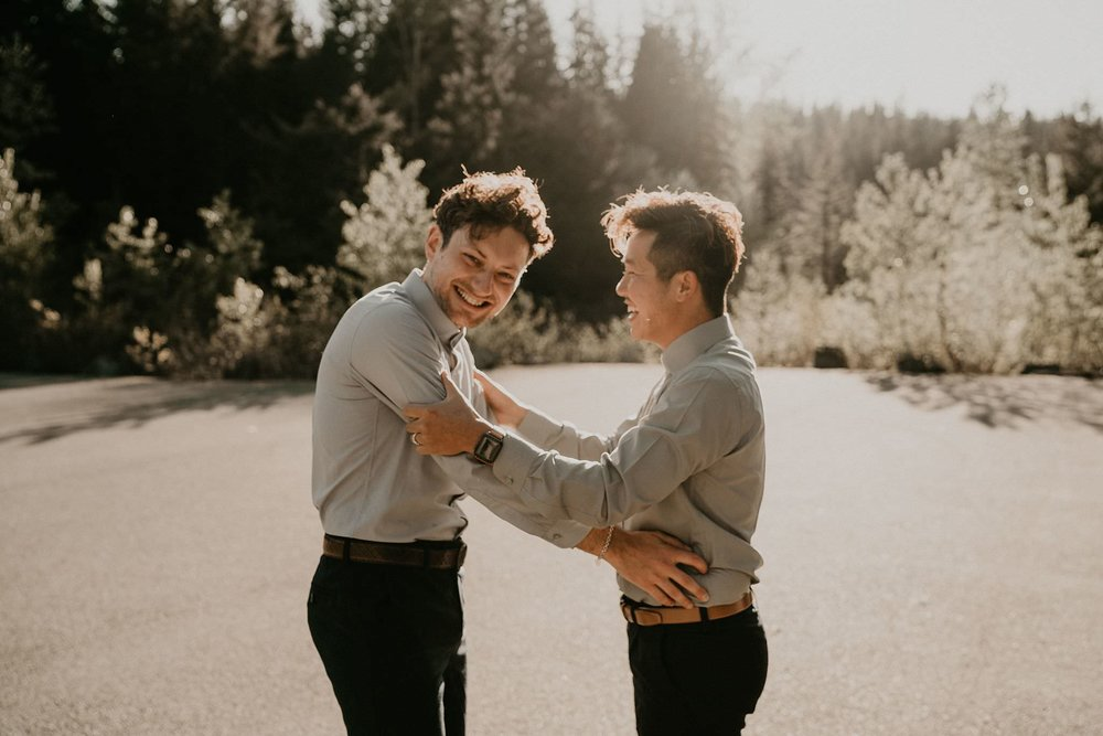 Gold Creek Pond Same Sex Wedding Getting Ready