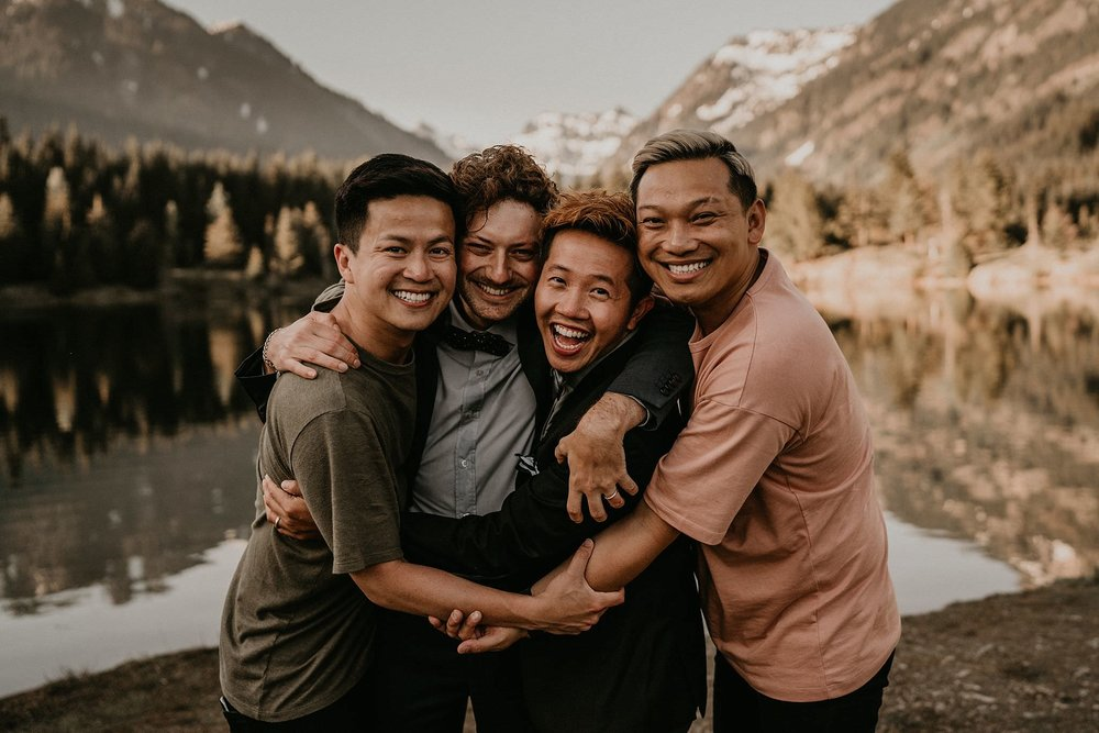 Henry Tieu Viet Dinh Rain and Pines and same sex adventure elopement