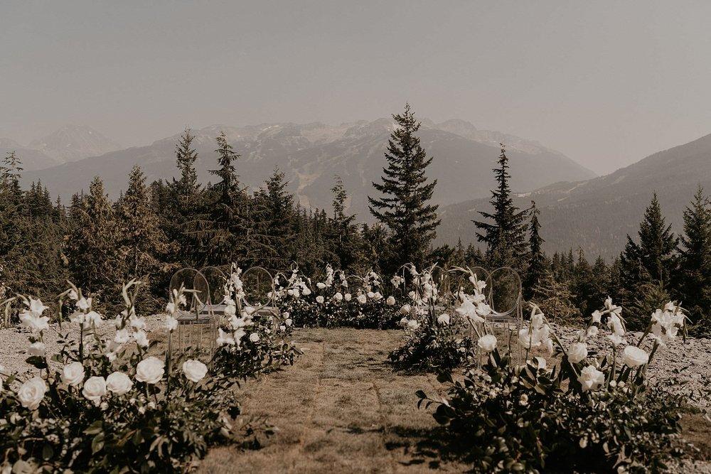 Whistler mountain sea to sky gondola elopement intimate wedding