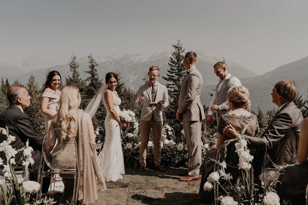 Jinza wedding dress mountain views in whistler Pacific Northwest