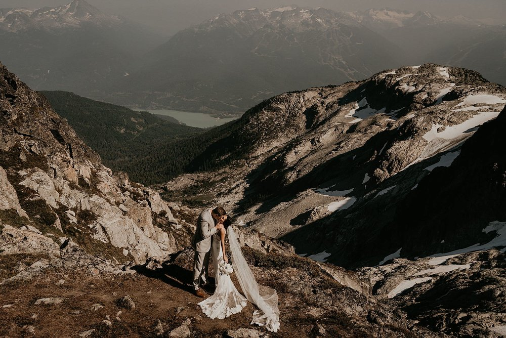 Whistler mountain see to sky gondola elopement photographer
