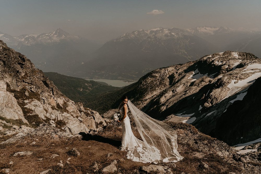 Whistler adventure elopement from Blackcomb helicopter ride
