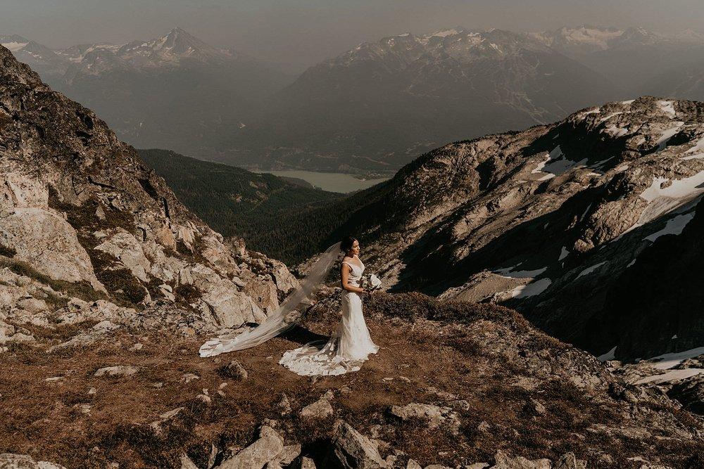 Whistler mountains sea to sky elopement