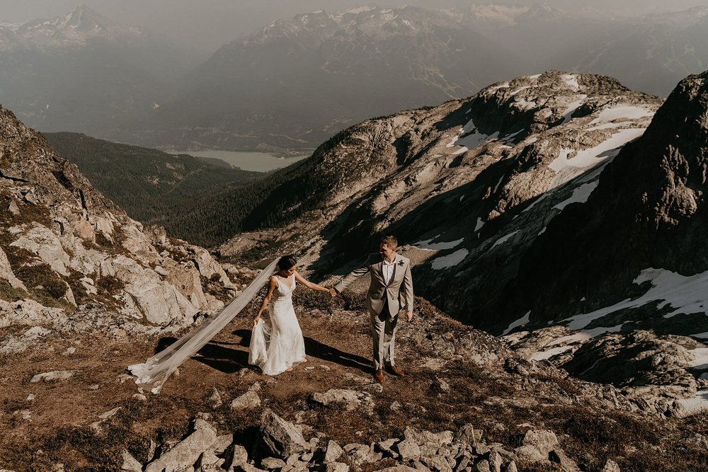 Helicopter adventure elopement in the United States, Canada, and New Zealand