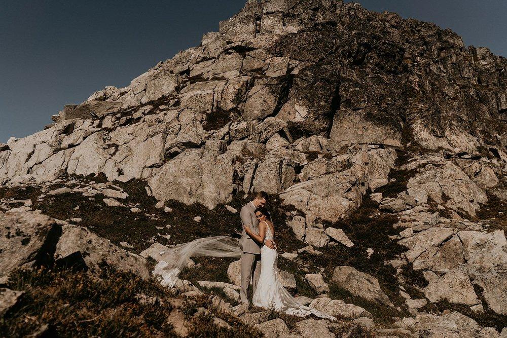 Epic mountain views wedding and elopement whistler Canada
