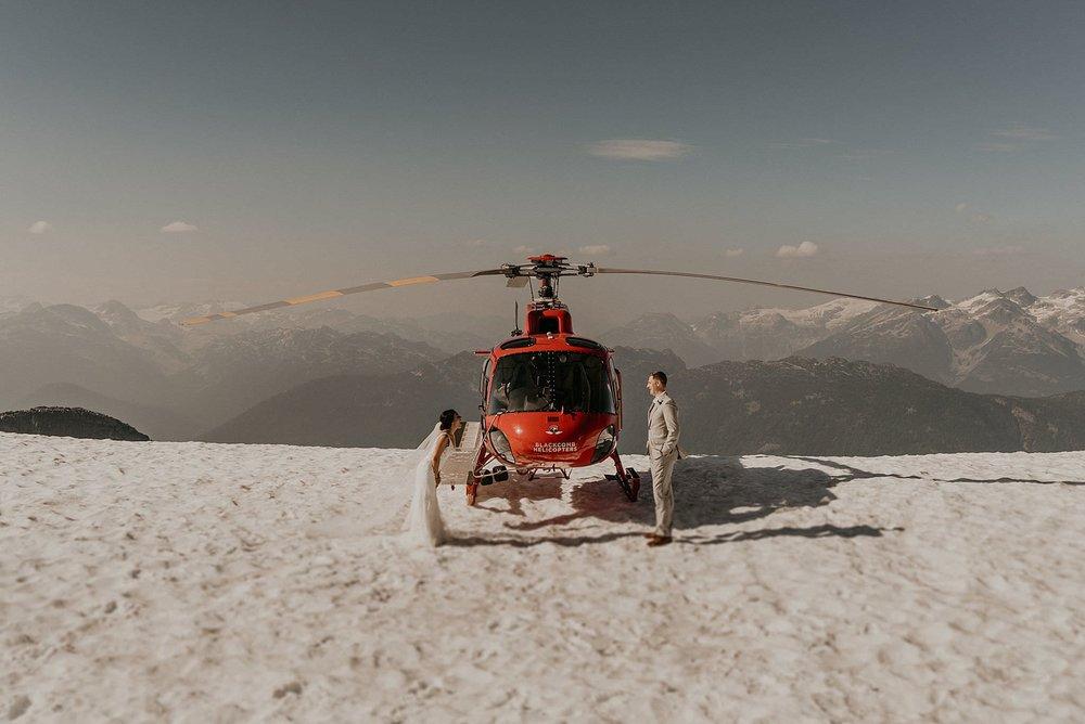 Winter snow adventure elopement whistler Canada