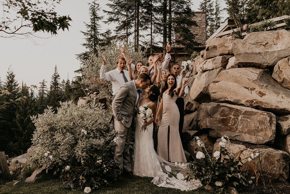 Intimate wedding in whistler Canada